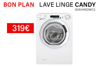candy lave linge